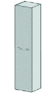 Armoire haute Alterna cubito 2/pro S