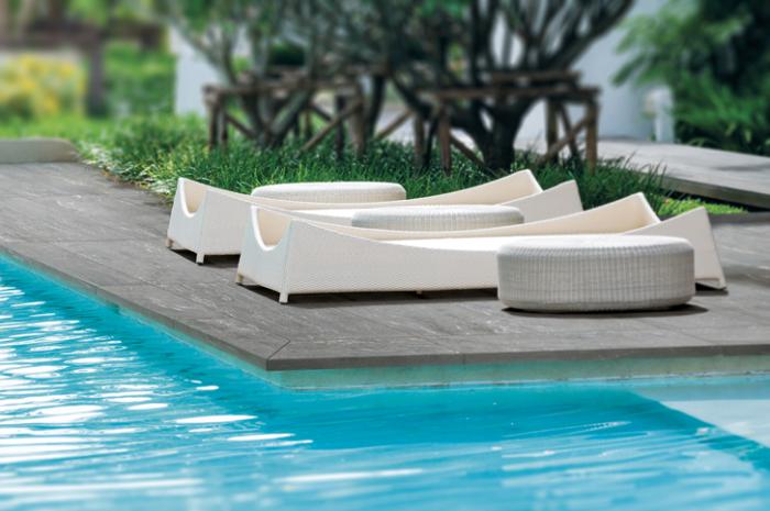 Carrelages de terrasse effet marbre